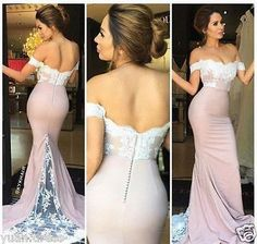 2016 Sexy Mermaid Long Formal Evening Dress Celebrity Pageant Party Prom Gown