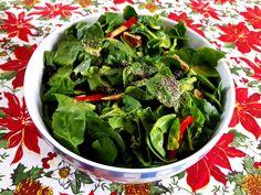 Σαλάτα, Σπανάκι, Σαλάτα με Σπανάκι, Μουστάρδα, CHIA, Spinach, Vegetables, Food, Veggies, Vegetable Recipes, Meals, Yemek, Eten