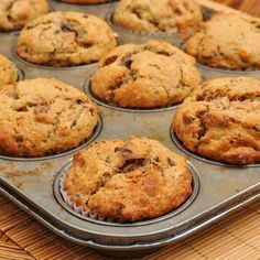 Looking for healthy banana muffins to get your day started? These have all the taste of regular breakfast muffins and none of the guilt, you won't be able to tell the difference! Banana Protein Muffins, Keto Breakfast Muffins, Banana Bread Muffins, Banana Bread Recipes, Baking Muffins, Nut Recipes, Almond Recipes, Healthy Dessert Recipes, Desserts