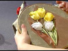 Ручная работа 29.04.2017. Вышивка: тюльпаны - YouTube