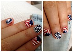 Easy DIY American Flag Nail Art | The Beauty Bean - Beauty | Fitness | Fashion | Nutrition | Healthy Recipes | Real Beauty | Makeup Free Mondays