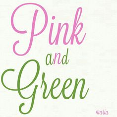 ♥ Pink and green Different Shades Of Pink, Shades Of Green, Pink And Green, Green Theme, Green Colors, Pink Color, Cottage Names, Color Collage, Green Quilt