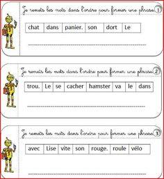 Comment construire une phrase qui a un sens ? Voici un exercice de grammaire qui aidera votre enfant ou votre élève à progresser en français à partir du cp
