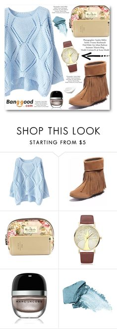 """""""Banggood"""" by angelstar92 ❤ liked on Polyvore featuring Marc Jacobs, Stila, BangGood, polyvoreeditorial and 60secondstyle"""