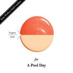 Mani-pedi nail-polish combo for a pool day
