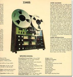 """1977 album """"Home Made With Teac"""" featuring the Teac A-3340 reel to reel tape recorder in   Phantom Productions' vintage recording collection"""