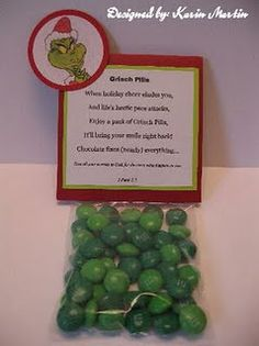 How the Grinch Stole Christmas Pary ideas: Party favor