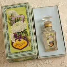 Antique Baldwin White Rose Special Perfume Bottle and Box ca 1910