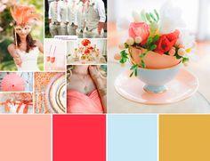 свадьба в персиковом цвете  #wedding #palette #gold #coral