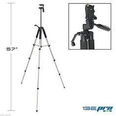 Introducing I3ePro BPTR57 57 Professional Tripod with 3way Panhead Tilt Motion  Built In Bubble Leveling for Sony HDRCX220 Handycam Camcorder. Great Product and follow us to get more updates!