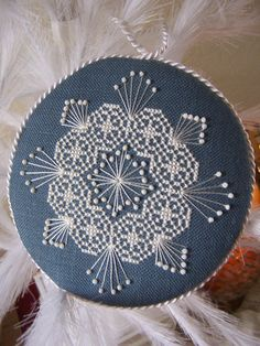 Cross Stitch and Vintage Beaded Snow Flake by Jenz4seasons on Etsy, $15.00