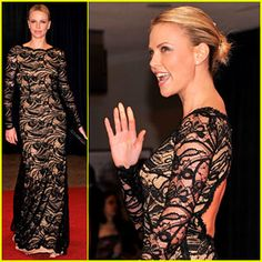 Charlize Theron wore an Emilio Pucci dress, Manolo Blahnik shoes, and carried a Judith Leiber clutch