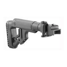 Tactical Folding Buttstock, Black - AK-47 Metal Joint, Black
