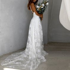 skyfely Elegant White Dress, Beautiful White Dresses, White Dresses For Women, Elegant Flowers, Party Dresses For Women, Elegant Dresses, Summer Dresses, White Lace, Beautiful Ladies