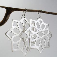 sterling silver earringsmoroccan patternhand madesaw by shabanaj, $150.00