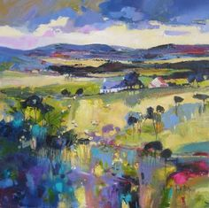 Not sure of the medium, but isn't this lovely. That cornflower blue... by Kate Philp #pastelcolours #veryfineart