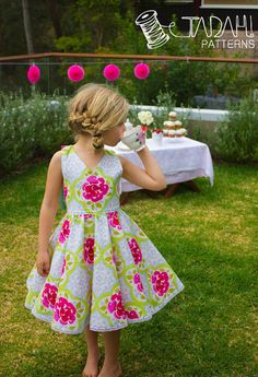 PATTERN Tea Party Dress  PDF Sewing Pattern  by TadahPatterns