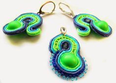 Blue-green snails | Jotemka Soutache