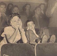 voice actors for Peter and Wendy (Bobby Driscoll and Kathryn Beaumont) watching…