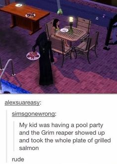 """When the Grim Reaper was rude. 