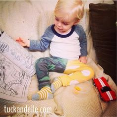 Tuck and Elle babe tuckandelle.com  My little man modeling Tuck and Elle leggings