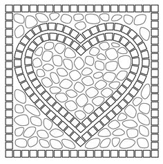 Mosaic heart coloring page from Mosaic category. Select from 21835 printable crafts of cartoons, nature, animals, Bible and many more.