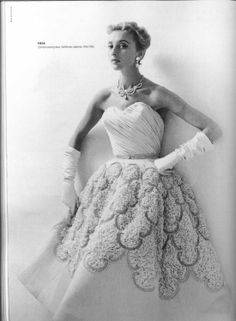 Pierre Balmain; Clorinde Evening dress 1954
