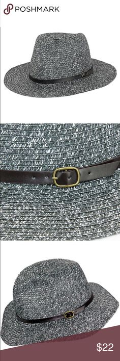 Paper panama hat with leather band Panama hat. One size fits most women ( head circumference is about 57cm) The Hatter Company Accessories Hats