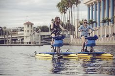 As we settle into the dog days of summer, the Tampa Bay Water Bike Company​ offers a unique opportunity to sight-see, exercise and cool off, in the heart of downtown Tampa.