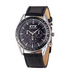 New Fashion Stainless Steel Leather Sports Mens Boy Quartz Wrist Watches