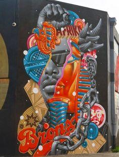 #StreetArt Tristan Eaton  #mural at Wynwood