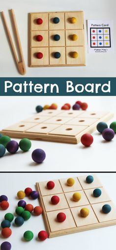 Pattern Board #color #colour #sorting #pattern #preschool #preschoolers #prek #toddlers #busybags #homeschool #homeschooling #daycare #classroom #affiliate