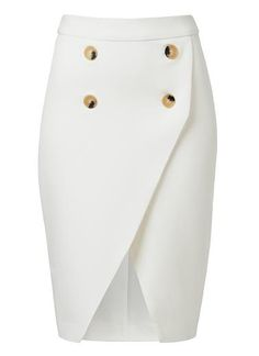 Stella Tulip Skirt - Sharvas Mode Pvt Ltd Cream Pencil Skirt, Cream Skirt, Pencil Skirt Outfits, High Waisted Pencil Skirt, Pencil Skirts, Waist Skirt, African Fashion Dresses, Fashion Outfits, Jupe Short