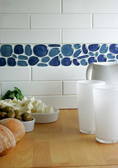 Agates recycled glass tile - traditional - kitchen tile - Interstyle