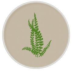 Green leaves cross stitch pattern Instant Download Free