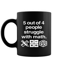 Check this awesome Funny Math Teacher 5 Out Of 4 People Maths Joke Coffee Mug 11 & 15 Oz . Math Teacher Humor, Math Jokes, Math Humor, Teacher Quotes, Funny Math, Dog Jokes, Easy Teacher Gifts, Fun Gifts, Teaching Math