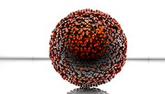 Geometric Shaded RED Sphere