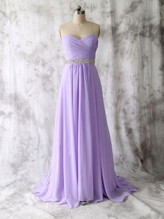 -line Strapless Sweetheart Lavender Prom Dresses | omyweddinggown.com