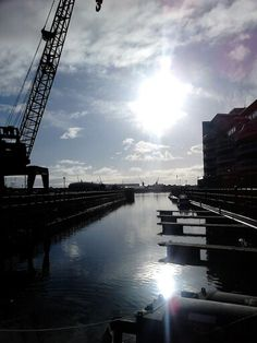 Cardiff Bay on a cold morning