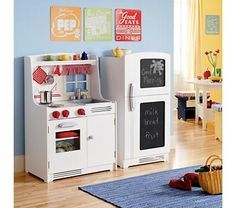 dramatic play kitchen in the home.