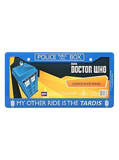 Doctor Who My Other Ride License Plate Frame,