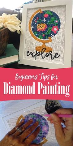 Getting started with diamond painting/diamond art is really easy. Check out these tips from my rookie project that will help you with your project! #diamondart #diamondpainting #artistherapy