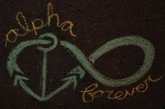 alpha sigma tau chalk drawing from the alpha chapter :)