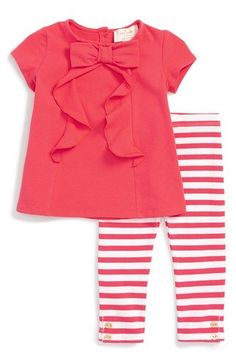 kate spade new york bow tee & leggings set (Baby Girls)