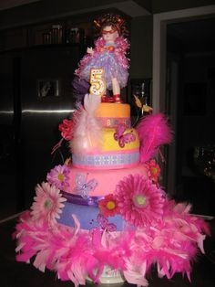 Fancy Nancy Cake. Soooo making this for my MOM for her bday!!!