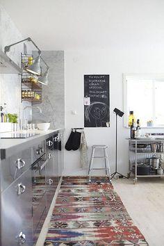 VINTAGE RUGS IN KITCHENS | Le Souk
