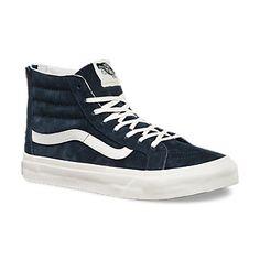 70040551ec SCOTCHGARD SK8-HI SLIM ZIP Blue Sneakers