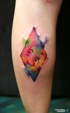 One of the most exciting innovations in tattooing has been the ability of talented artists to make tattoos look like paintings. We are particularly enthralled by abstract watercolor tattoos. In thi. Watercolor Tattoo Sleeve, Watercolor And Ink, Abstract Watercolor, Tattoo Abstract, Geometric Watercolor Tattoo, Flower Watercolor, Tattoo Skin, Make Tattoo, Design Tattoo