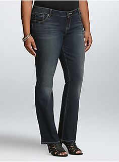 6b9c2627a27 Just the right touch of flare! Our barely boot jean is a skinny-mini. Torrid