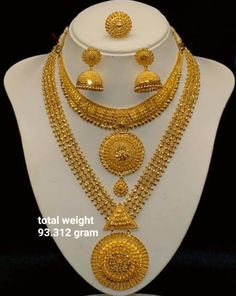 Fulfill a Wedding Tradition with Estate Bridal Jewelry Gold Earrings Designs, Gold Jewellery Design, Necklace Designs, Diamond Jewellery, Jewellery Box, Jewelry Sets, Jewelry Accessories, Gold Wedding Jewelry, Bridal Jewelry